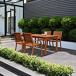 Amazonia Arizona Rectangular Wood Patio Dining Set