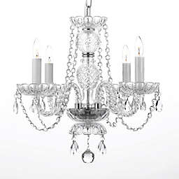 Swarovski® Crystal Trimmed 4-Light Plug-In Chandelier in Clear
