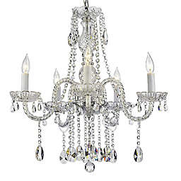 Swarovski® Crystal Trimmed 5-Light Plug-In Chandelier in Clear