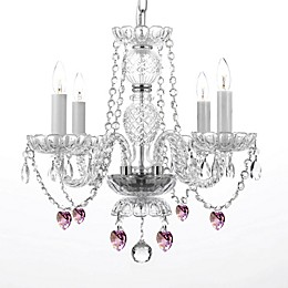Venetian Style 4-Light Crystal Plug-In Chandelier in Clear