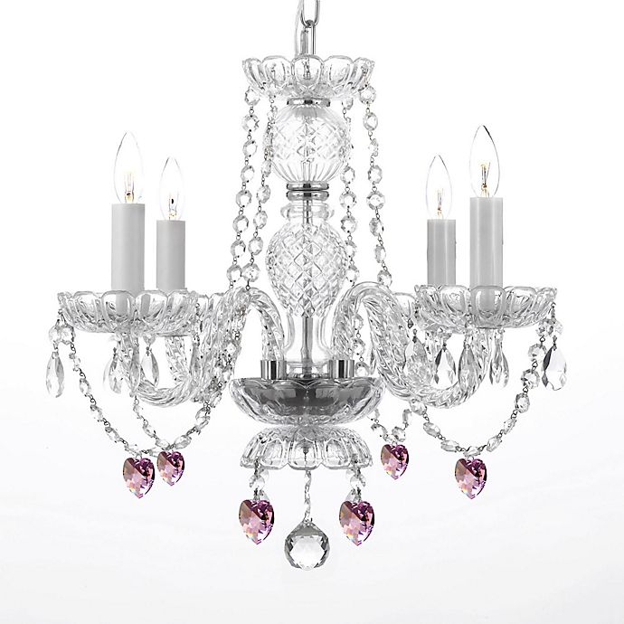 Alternate image 1 for Venetian Style 4-Light Crystal Plug-In Chandelier in Clear
