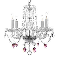 Swarovski® Crystal Trimmed 4-Light Plug-In Chandelier in Clear