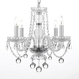 Swarovski Crystal Trimmed 4-Light Chandelier