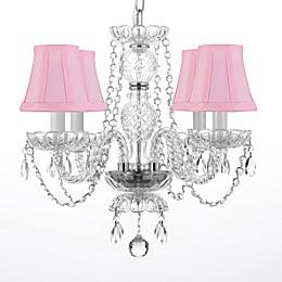 4-Light Swarovski® Crystal Trimmed Plug-In Chandelier