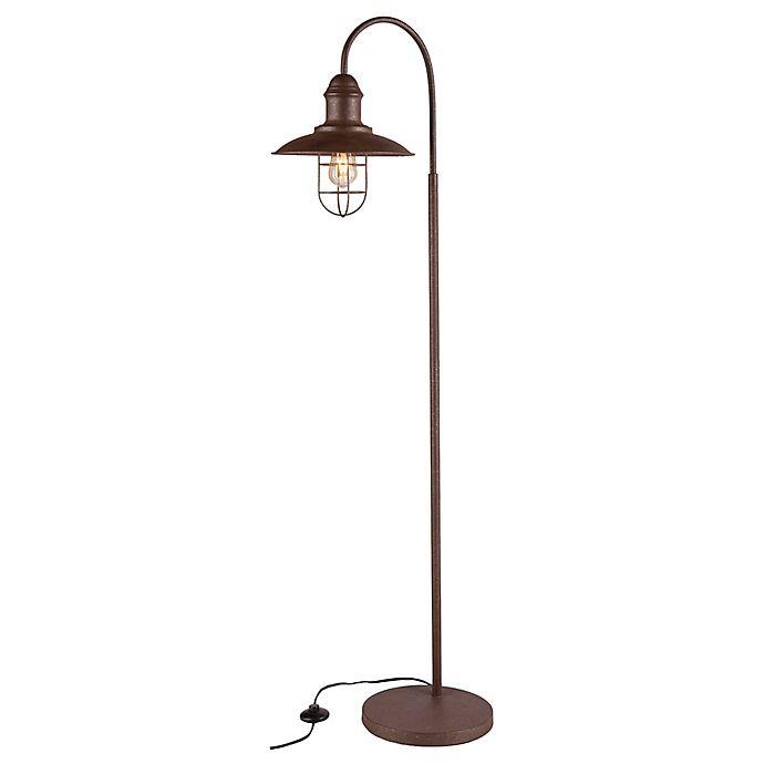 Alternate image 1 for Southern Enterprises Pinsley Floor Lamp in Rustic Brown