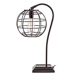 Southern Enterprises Zaine Adjustable Table Lamp in Chocolate