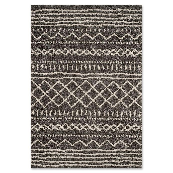 Alternate image 1 for Safavieh Arizona 8-Foot x 10-Foot Shag Area Rug in Brown/Ivory