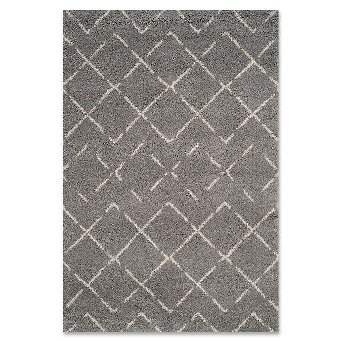 Alternate image 1 for Safavieh Arizona Shag 5-Foot 1-Inch x 7-Foot 6-Inch Area Rug in Grey/Ivory