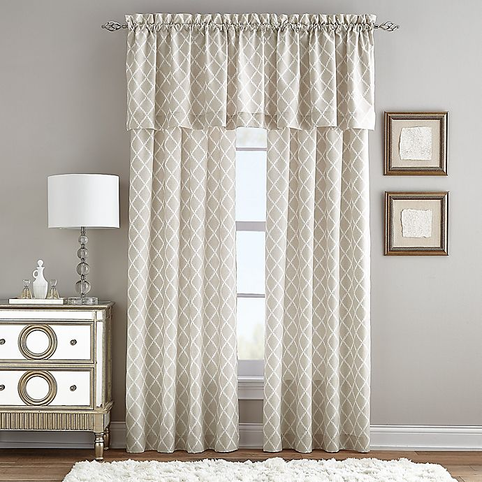 Alternate image 1 for Linen Paisley Rod Pocket Window Curtain Panel in Natural
