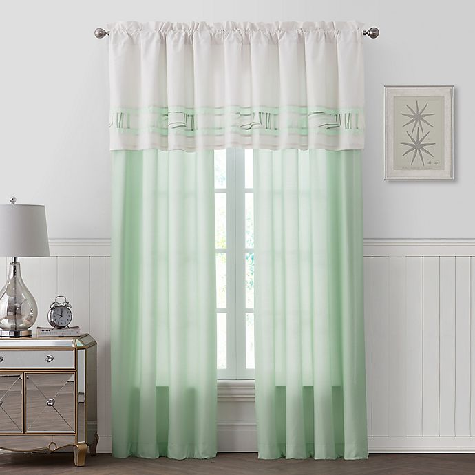 Alternate image 1 for Palm Light Window Curtain Panel Pair in Green
