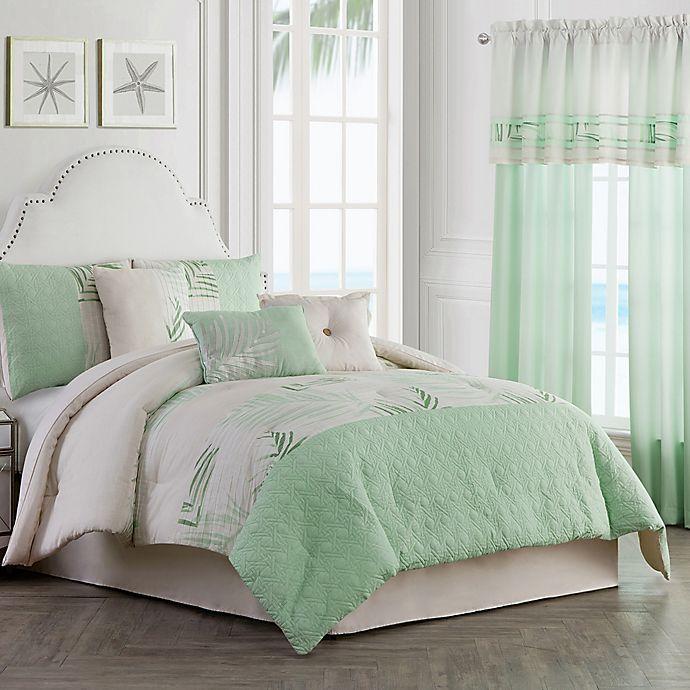 Alternate image 1 for Palm Light 7-Piece Full Comforter Set in Green