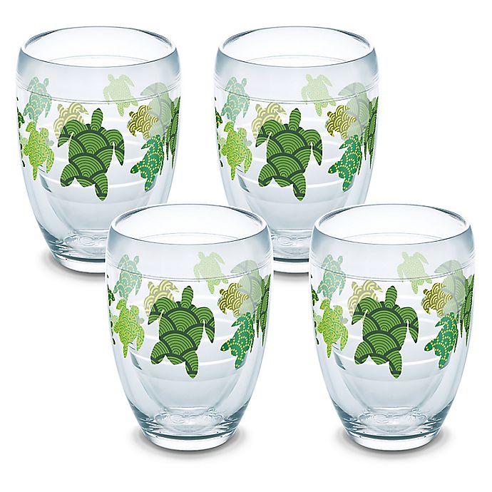 Alternate image 1 for Tervis® Turtle Pattern 9 oz. Stemless Wine Glasses (Set of 4)