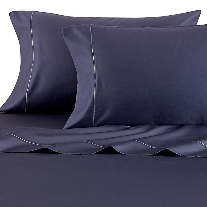 Alternate image 1 for Wamsutta® 500-Thread-Count PimaCott® Queen Sheet Set in Denim