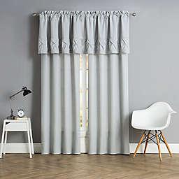 Pom Pom Window Curtain Panels and Valance