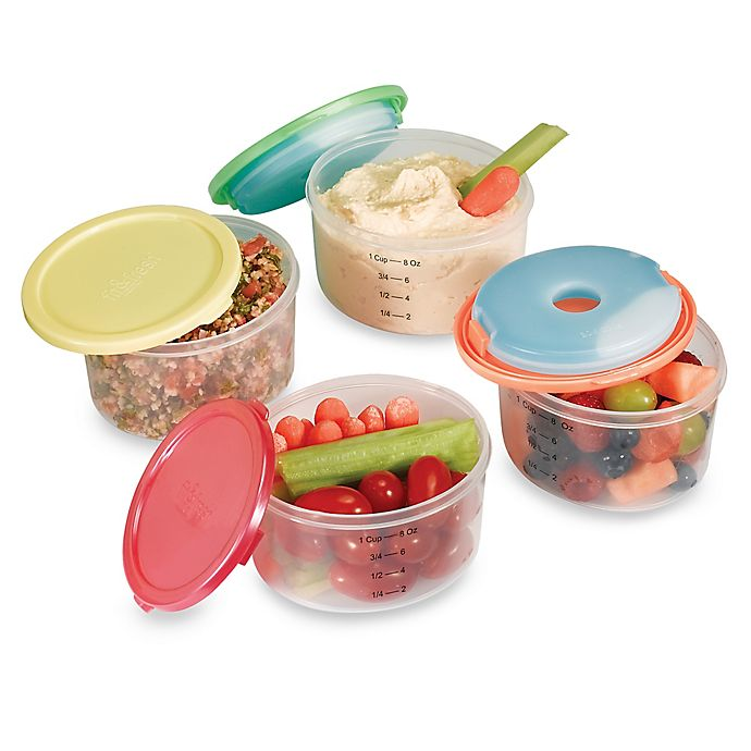 Alternate image 1 for Fit & Fresh™ Smart Portion 1-Cup Round Chill Containers (Set of 4)
