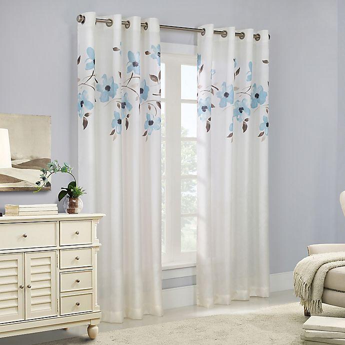 Alternate image 1 for Eden 95-Inch Grommet Top Window Curtain Panel in Mist