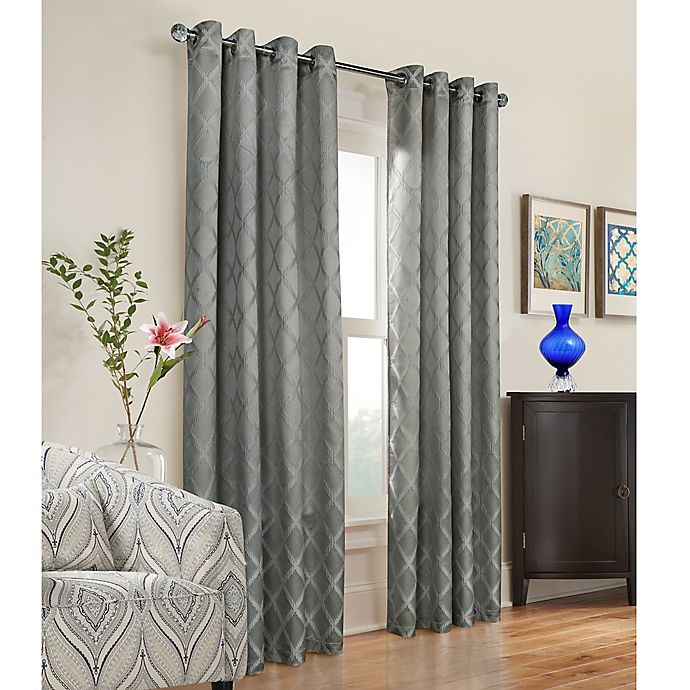 Alternate image 1 for Triumph 63-Inch Grommet Top Window Curtain Panel in Grey