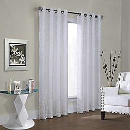 Hammered Leaf Grommet Top Window Curtain Panel