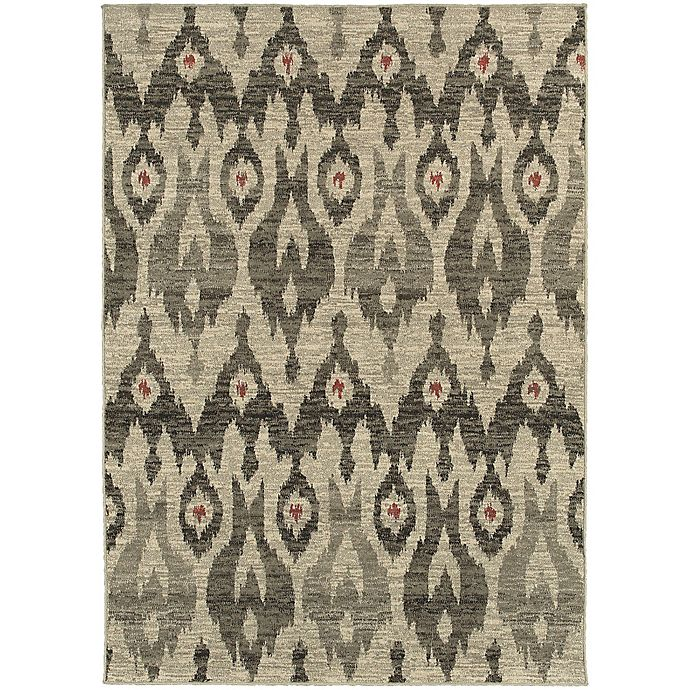 Alternate image 1 for Oriental Weavers Highlands Ikat 7-Foot 10-Inch x 10-Foot 10-Inch Area Rug in Ivory