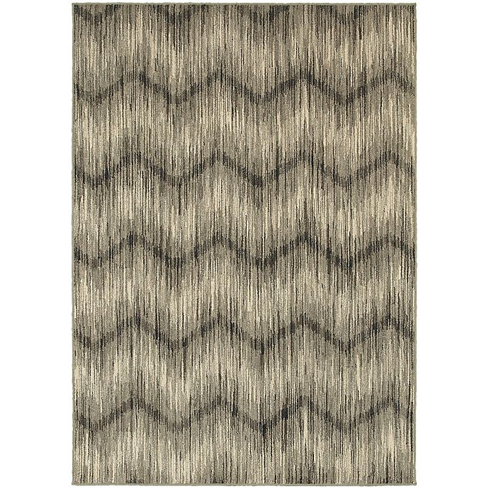 Alternate image 1 for Oriental Weavers Highlands Chevron 3-Foot 10-Inch x 5-Foot 5-Inch Scatter Rug in Grey