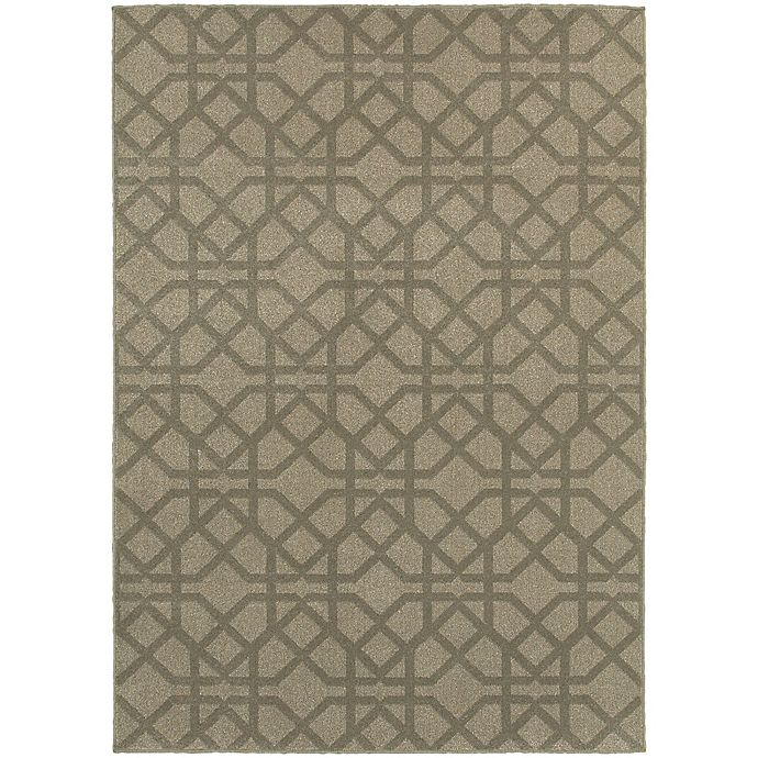 Alternate image 1 for Oriental Weavers Highlands Geometric 3-Foot 10-Inch x 5-Foot 5-Inch Scatter Rug in Grey