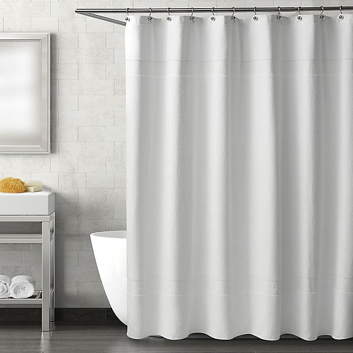 Alternate image 1 for Haven Serenity Shower Curtain in White