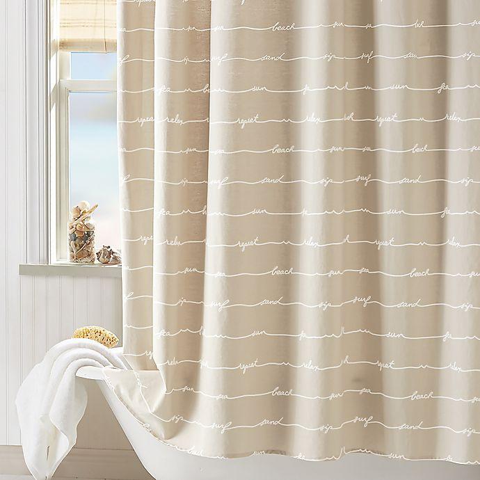 Coastal LivingR Sand Script Shower Curtain In Natural