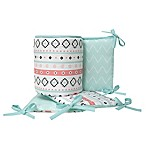 Lambs & Ivy® Little Spirit 4-Piece Crib Bumper in Coral/Teal
