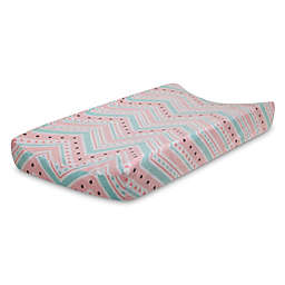 Lambs & Ivy® Little Spirit Changing Pad Cover in Coral/Teal