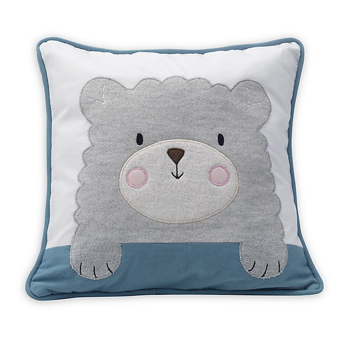 Alternate image 1 for Lambs & Ivy® Happi by Dena™ Little Llama Throw Pillow in Grey/Blue