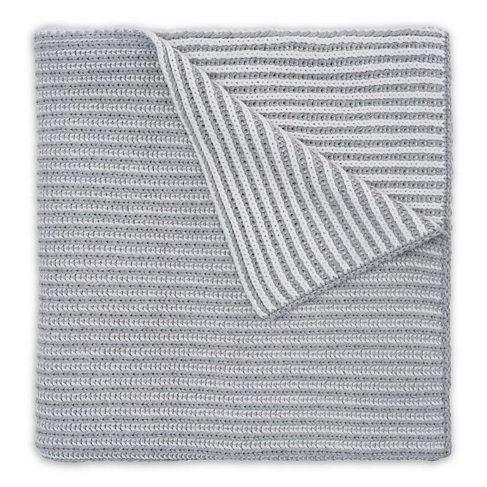 Alternate image 1 for Elegant Baby® Twisted Yarn Blanket in Grey