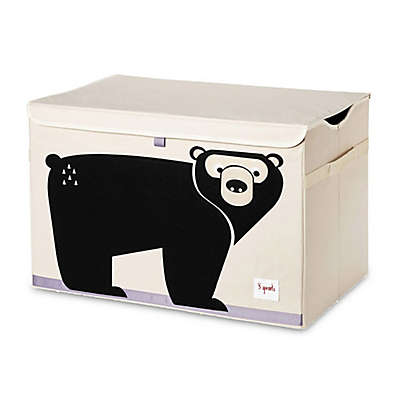 3 Sprouts Bear Toy Chest in Black