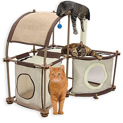 Kitty City™ Cat Condo Duplex in Tan