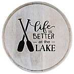 Thirstystone®  Life is Better at the Lake  Acacia Wood Round Trivet