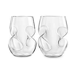 Final Touch Conundrum Stemless Wine Glass Set