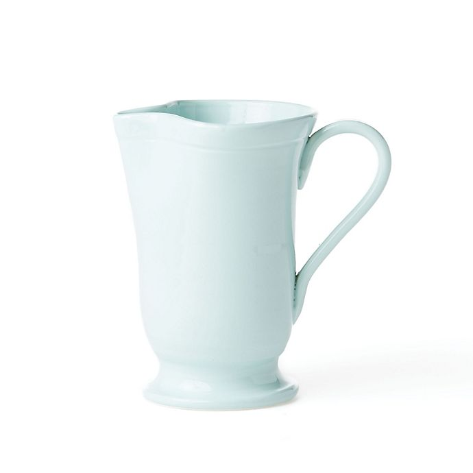 Alternate image 1 for viva by VIETRI Fresh Large Footed Pitcher in Aqua