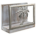 Thirstystone® Palm Tree Acacia Wood Napkin Holder in Silver