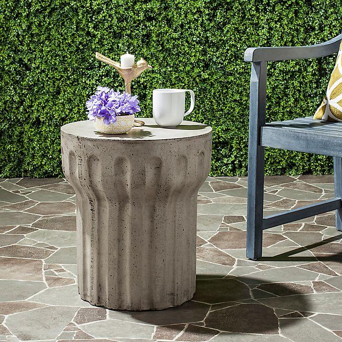 Alternate image 1 for Safavieh Viesta Concrete Accent Table in Dark Grey