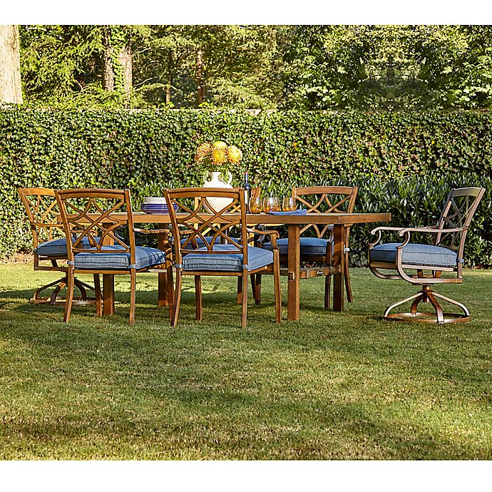 Alternate image 1 for Trisha Yearwood Home Outdoor 7-Piece Dining Set in Demo Denim