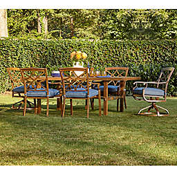 Trisha Yearwood Home Outdoor 7-Piece Dining Set in Demo Denim