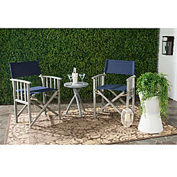 Safavieh Laguna Outdoor Director Chair in Navy (Set of 2)