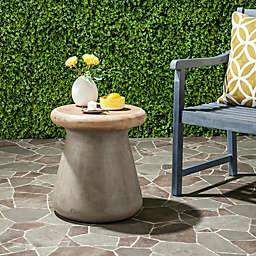 Safavieh Button Concrete Accent Table in Dark Grey