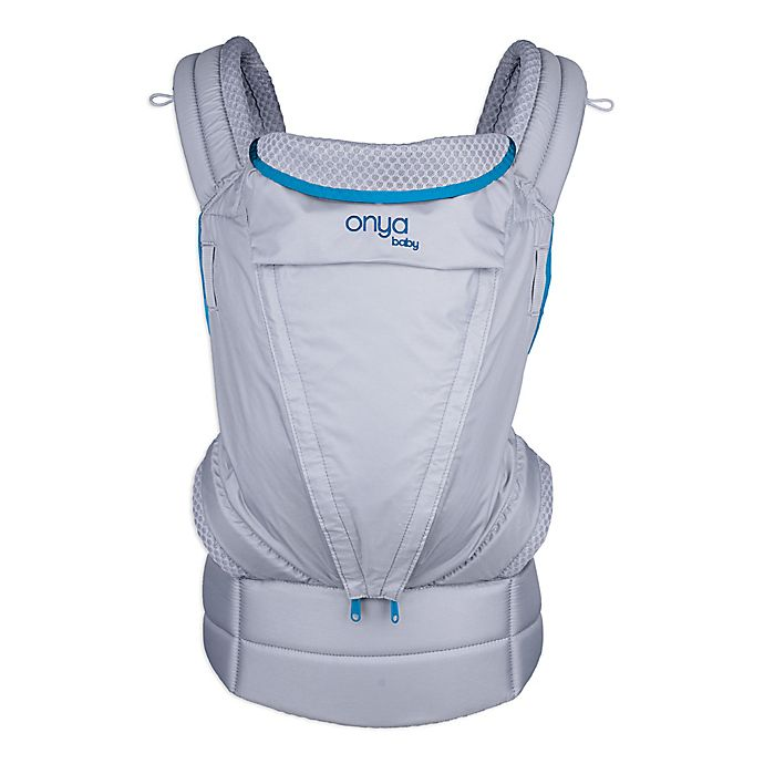 Alternate image 1 for Onya Baby Pure Baby Carrier in Blue/Granite