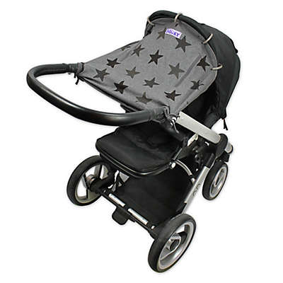 Dooky® Original Universal Stroller and Car Seat Cover in Grey Stars
