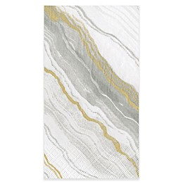 Caspari Marble Grey 15-Count Paper Guest Towels