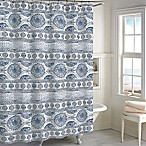 Blue Medallion Shower Curtain