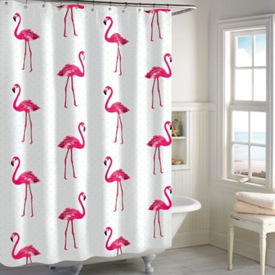 Flamingo Shower Curtain In Pink