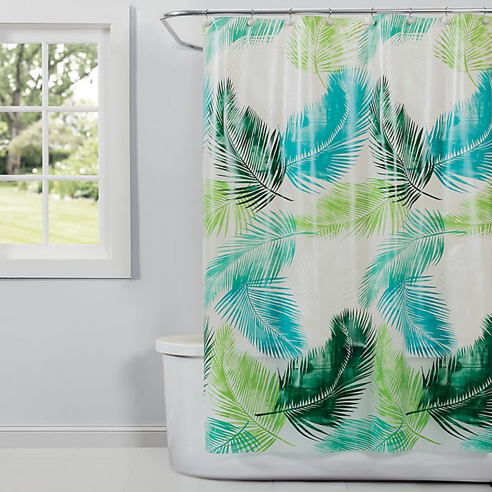 Alternate image 1 for Saturday Knight Palm Shower Curtain in Green