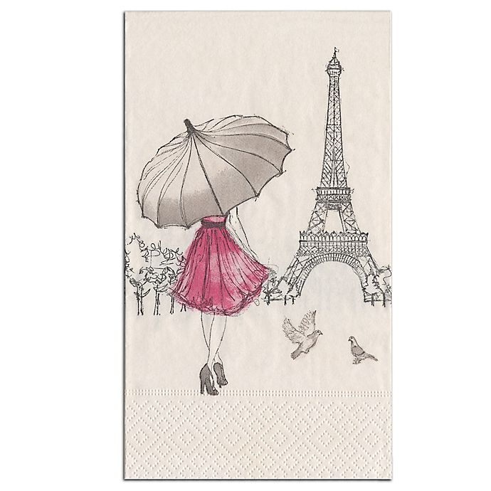 Alternate image 1 for Eiffel Tower 15-Count Paper Guest Towels