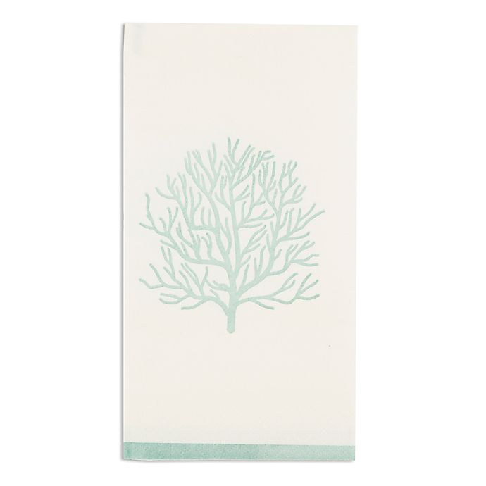 Alternate image 1 for Coral Reef 16-Count Paper Guest Towels